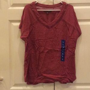 Women's Gloria Vanderbilt Shirt Red Large